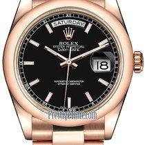 Rolex Day-Date 36 Oro rosa 36mm Negro