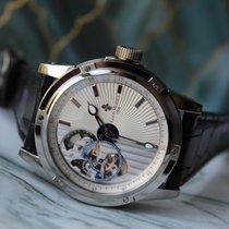 Louis Moinet nou Atomat Scheletat Fund vizibil Cronometru Serie limitata 43.5mm Titan Sticlă de safir