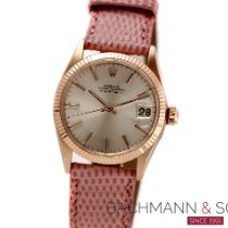Rolex Red gold Automatic Silver No numerals 30mm pre-owned Oyster Perpetual Date