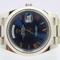 Rolex Day-Date 40 Witgoud 40mm Blauw Romeins Nederland, Rijnsburg