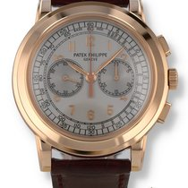 Patek Philippe Chronograph Rose gold 42mm Silver Arabic numerals United States of America, New Hampshire, Nashua