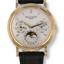 Patek Philippe Perpetual Calendar Yellow gold 35.2mm Silver United States of America, New Hampshire, Nashua