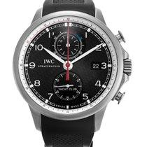 IWC Portugieser Yacht Club Chronograph Titan Schwarz Arabisch