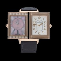 Jaeger-LeCoultre Oro rosa Cuerda manual Madreperla Arábigos 24mm usados Grande Reverso Lady Ultra Thin Duetto Duo