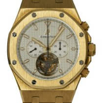 Audemars Piguet Royal Oak Tourbillon pre-owned 44mm Silver Chronograph Tourbillon Yellow gold