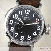 Zenith Pilot Type 20 GMT Acier 47.5mm Noir