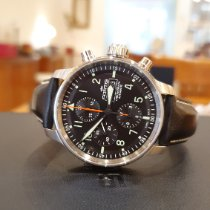 Fortis Flieger Steel 43mm Black Arabic numerals