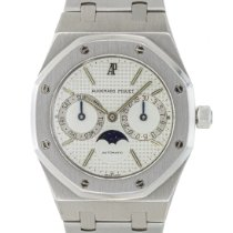 Audemars Piguet Royal Oak Day-Date Acero 36mm Blanco Sin cifras