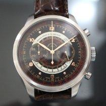 Zeno-Watch Basel Stahl 47mm Automatik 8560BH-f1-Puls OS Retro Chronograph Dubois-Depraz 47,5mm neu