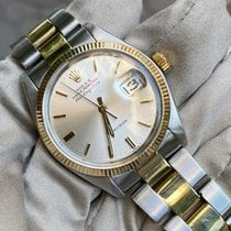 Rolex Air King Date Gold/Steel 34mm Silver