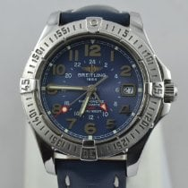 Breitling Colt GMT Steel 42mm Blue Arabic numerals