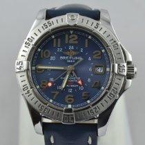 Breitling Colt GMT Stahl 42mm Blau Arabisch
