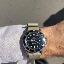 Rolex Submariner Stahl 40mm Schwarz Keine Ziffern