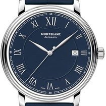 Montblanc Tradition Steel 40mm Blue Roman numerals