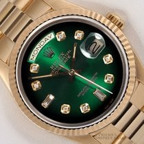 Rolex Automatic Green 36mm pre-owned Day-Date 36