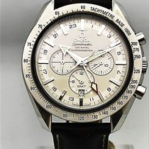 Omega Speedmaster Broad Arrow Acero 44mm Blanco Sin cifras