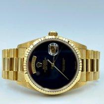 Rolex Day-Date 36 Geelgoud 36mm Zwart Geen cijfers