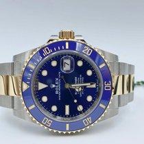 Rolex Submariner Date Goud/Staal 41mm Blauw Geen cijfers