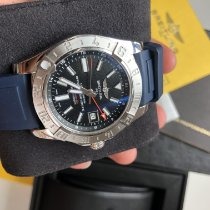 Breitling Avenger II GMT Steel 43mm Blue No numerals
