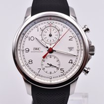 IWC Portuguese Yacht Club Chronograph Steel 43.5mm Silver Arabic numerals United States of America, Texas, Houston