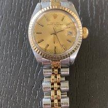 Rolex Lady-Datejust Сталь 25mm Золотой Без цифр
