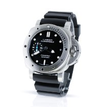 Panerai Luminor Submersible 1950 3 Days Automatic Acero 42mm Negro Sin cifras