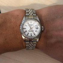 Rolex Oyster Perpetual Lady Date Acier 26mm Blanc