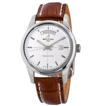 Breitling Transocean Day & Date Steel 43mm Silver No numerals United States of America, New York, Greenvale