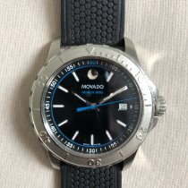 Movado Series 800 Staal Zwart