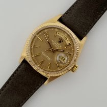 Rolex Day-Date 36 Yellow gold 36mm Brown Arabic numerals United States of America, California, Santa Monica