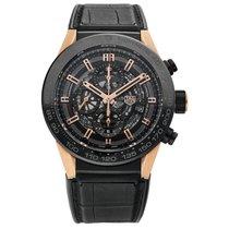TAG Heuer Titanium Automatic Black No numerals 45mm new Carrera Calibre HEUER 01
