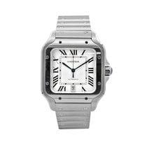 Cartier Santos (submodel) Steel 39.8mm White Roman numerals United States of America, New York, New York