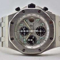 Audemars Piguet Titan Automatik Silber Arabisch 42mm gebraucht Royal Oak Offshore Chronograph