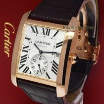 Cartier Rose gold Automatic Silver pre-owned Tank MC