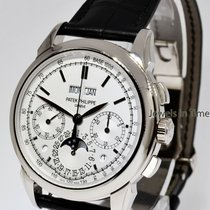 Patek Philippe White gold Manual winding Silver 41mm new Perpetual Calendar Chronograph