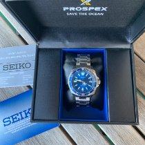 Seiko Prospex gebraucht 43.8mm Blau Datum Stahl