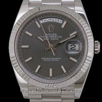 Rolex Day-Date 40 Oro blanco 40mm Sin cifras