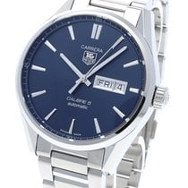 TAG Heuer Carrera Calibre 5 Steel 41mm Blue No numerals