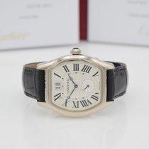 Cartier Tortue Weißgold 48mm Silber Römisch