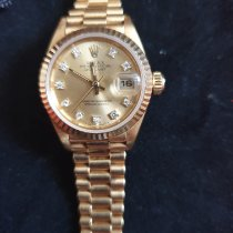 Rolex Lady-Datejust Or jaune 26mm Champagne Sans chiffres France, pringy