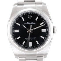 Rolex Oyster Perpetual 36 Stal 36mm Czarny