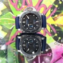 Panerai Luminor Submersible occasion 42mm Noir Date Caoutchouc