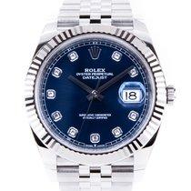Rolex Datejust Steel 41mm Blue No numerals
