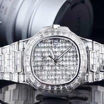 Patek Philippe Nautius 5711 original 324SC Movement custom upgrade Full diamond 18K white gold White gold Nautilus 40mm new