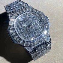 Patek Philippe Nautius 5711 original 324SC Movement custom upgrade Full diamond 18K white gold 5719 appearance Or blanc Nautilus 40mm nouveau