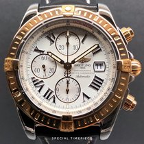 Breitling Chronomat Evolution Goud/Staal 44mm Wit Romeins