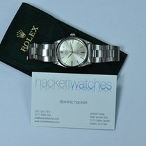 Rolex Air King Precision Stahl 34mm Silber Keine Ziffern