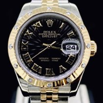 Rolex Lady-Datejust Or/Acier 26mm Noir Sans chiffres
