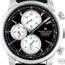 Maurice Lacroix Pontos Chronographe Rétro neu 2020 Automatik Chronograph Uhr mit Original-Box und Original-Papieren PT6288-SS001-330-1