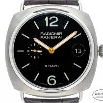 Panerai Radiomir 8 Days neu Handaufzug Uhr mit Original-Box und Original-Papieren PAM00346